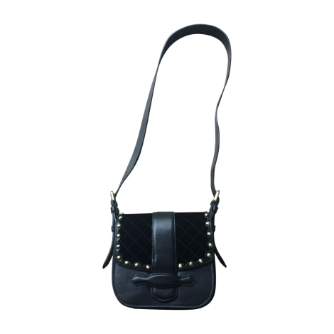 Leather Shoulder Bag VANESSA BRUNO Black