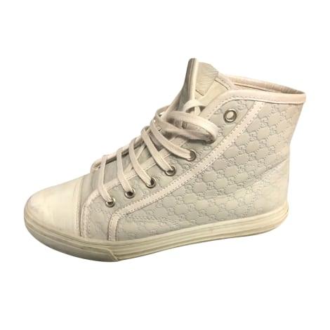 Baskets GUCCI Blanc, blanc cassé, écru