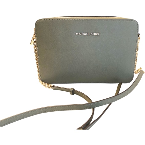 Leather Shoulder Bag MICHAEL KORS Khaki