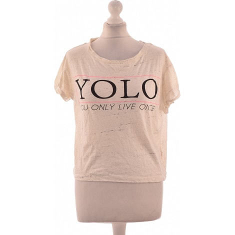 Top, tee-shirt PULL & BEAR Beige, camel