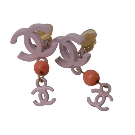 Earrings CHANEL Pink, fuchsia, light pink