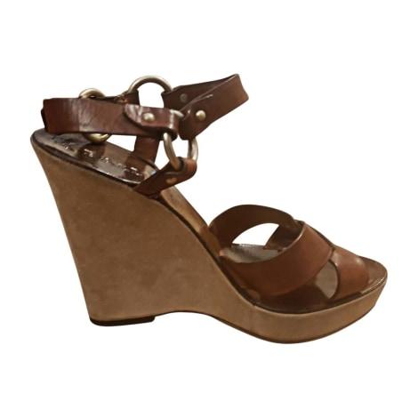 Sandales compensées BALLY Beige, camel