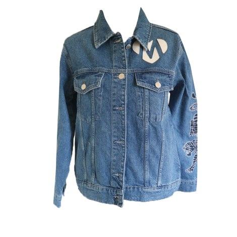 Zipped Jacket MAJE Blue, navy, turquoise