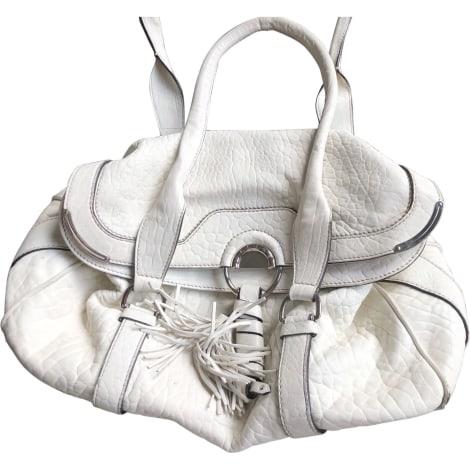 Lederhandtasche CÉLINE Weiß, elfenbeinfarben