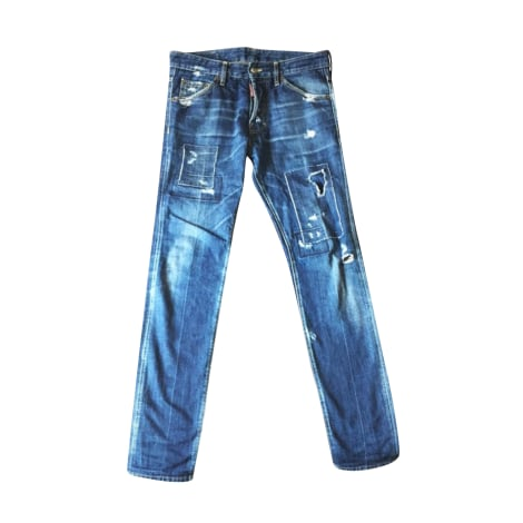Straight Leg Jeans DSQUARED2 Blue, navy, turquoise