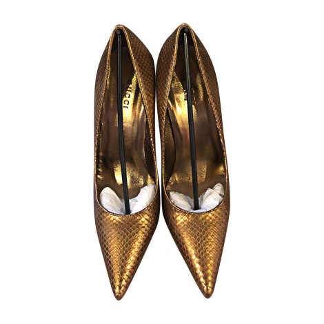 Pumps GUCCI Gold, Bronze, Kupfer