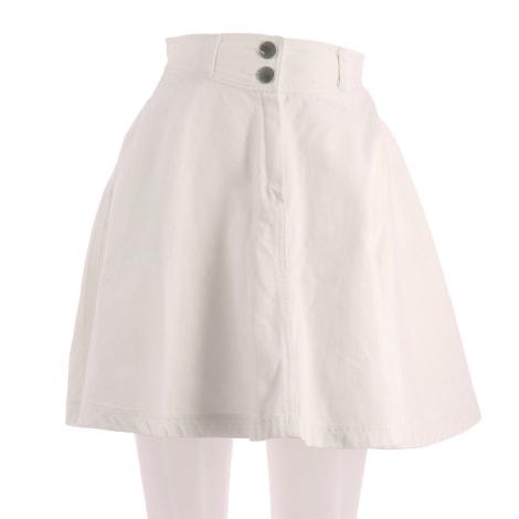 Jupe mi-longue MAJE Blanc, blanc cassé, écru