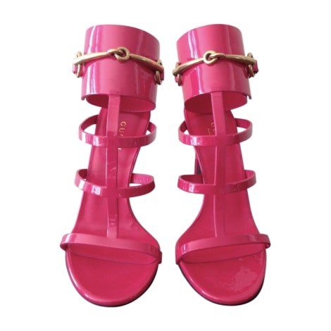 Heeled Sandals GUCCI Pink, fuchsia, light pink