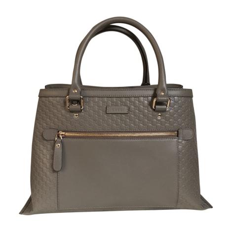 Leather Handbag GUCCI Gray, charcoal