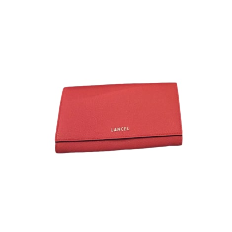 Portefeuille LANCEL Corail Rouge Lancel
