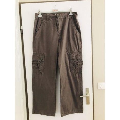 Pantalon large QUIKSILVER Marron