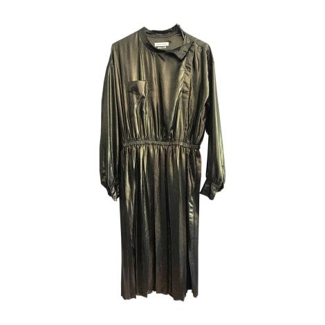 Robe mi-longue ISABEL MARANT Doré, bronze, cuivre