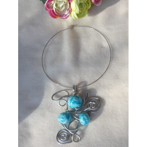 Collier FANTAISIE Bleu, bleu marine, bleu turquoise