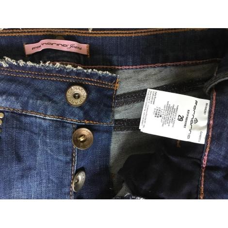 Jeans large, boyfriend FORNARINA Bleu, bleu marine, bleu turquoise