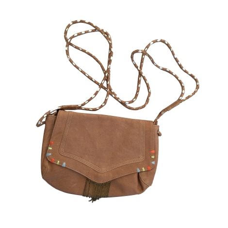 Leather Shoulder Bag PETITE MENDIGOTE Brown