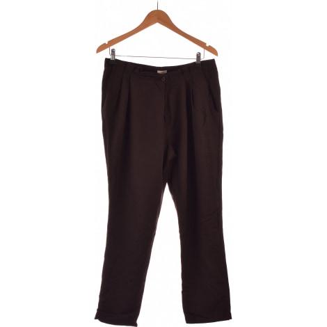 Straight Leg Pants CYRILLUS Brown