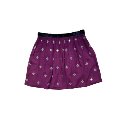 Mini Skirt CLAUDIE PIERLOT Red, burgundy