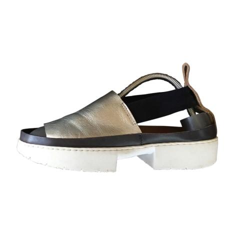 Sandales compensées TRIPPEN Gris argenté