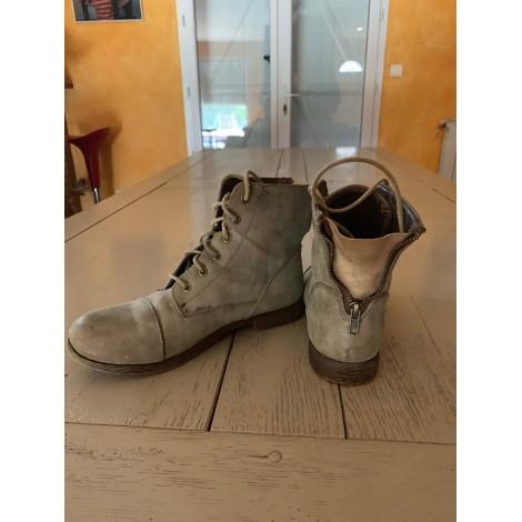 Bottines & low boots plates CACHE CACHE Kaki