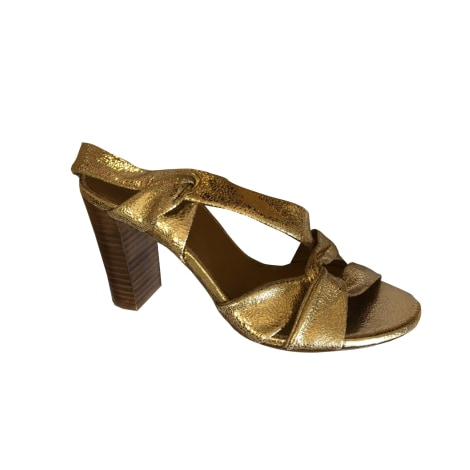 Heeled Sandals SÉZANE Golden, bronze, copper