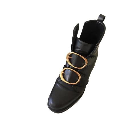 Flat Ankle Boots MAJE Black