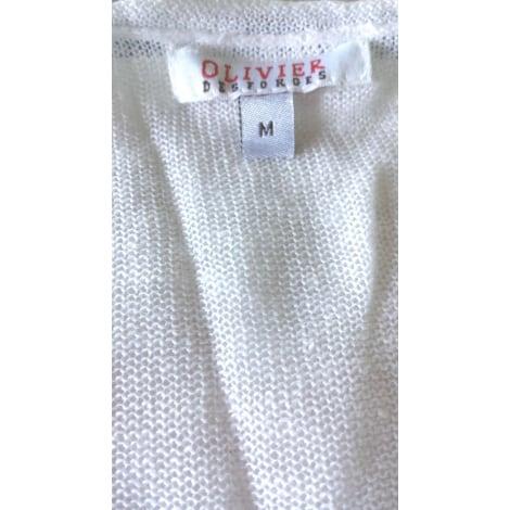 Pull tunique OLIVIER DESFORGES Blanc, blanc cassé, écru