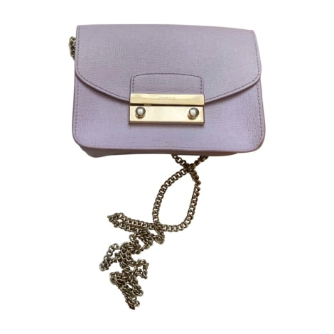 Leather Handbag FURLA Purple, mauve, lavender