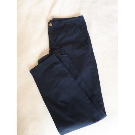 Pantalon slim, cigarette MASSIMO DUTTI Bleu, bleu marine, bleu turquoise