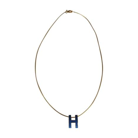 Necklace HERMÈS Blue, navy, turquoise