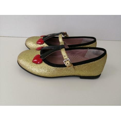 Ballerinas GUCCI Gold, Bronze, Kupfer
