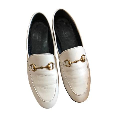 Loafers GUCCI White, off-white, ecru