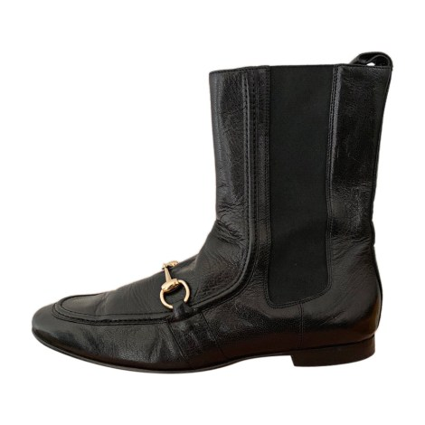 Flat Ankle Boots GUCCI Black