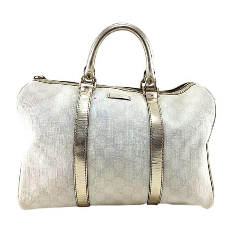 Stoffhandtasche GUCCI Boston Weiß, elfenbeinfarben