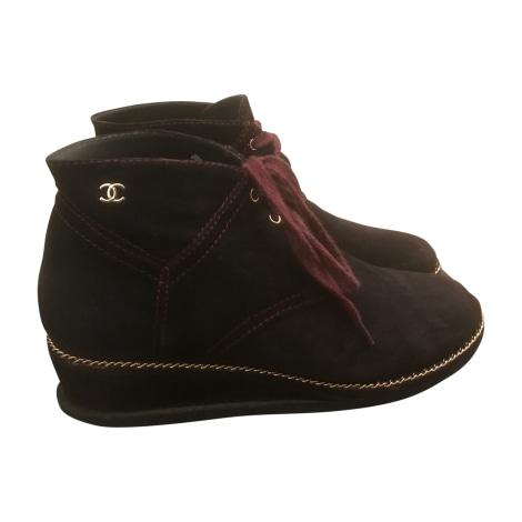 Bottines & low boots à compensés CHANEL Violet, mauve, lavande