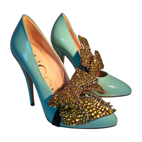 Pumps GUCCI Blau, marineblau, türkisblau