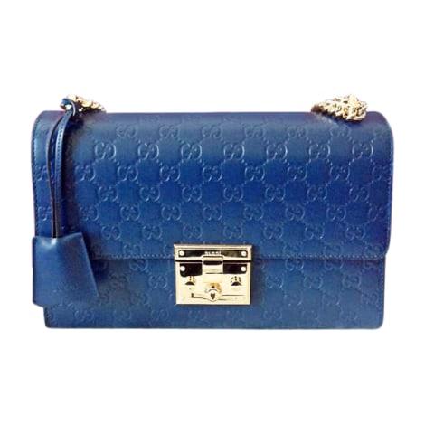 Leather Handbag GUCCI Blue, navy, turquoise