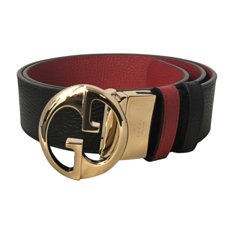 Wide Belt GUCCI schwarz/rot