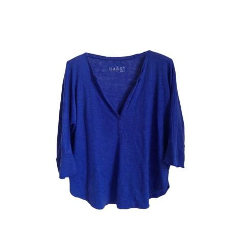 Top, tee-shirt BA&SH Bleu, bleu marine, bleu turquoise