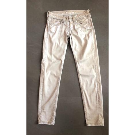 Jeans slim FORNARINA Beige, camel
