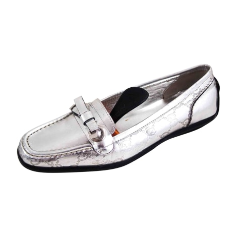 Loafers GUCCI Silver