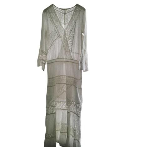 Robe longue BA&SH Blanc, blanc cassé, écru