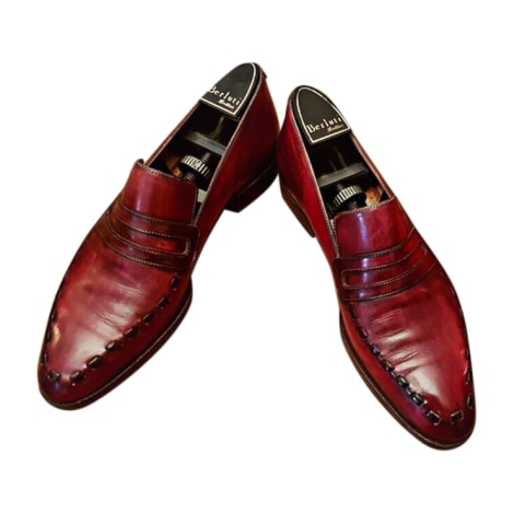 Mocassins BERLUTI Rouge, bordeaux