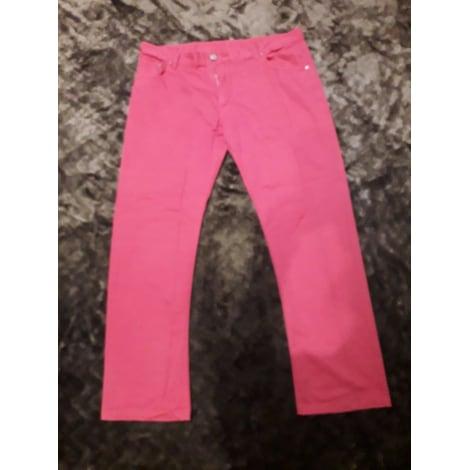 Pantalon droit FAÇONNABLE Rouge, bordeaux