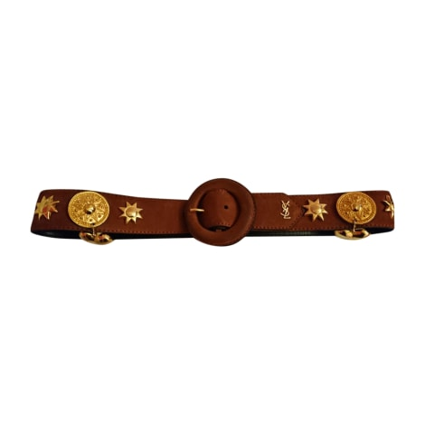 Wide Belt YVES SAINT LAURENT Brown