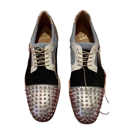 Chaussures à lacets CHRISTIAN LOUBOUTIN Argenté, acier