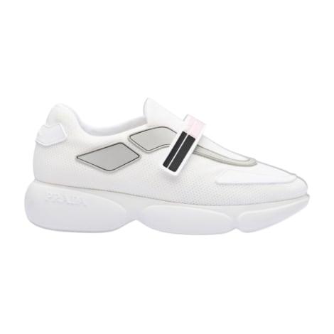 Baskets PRADA Blanc, blanc cassé, écru