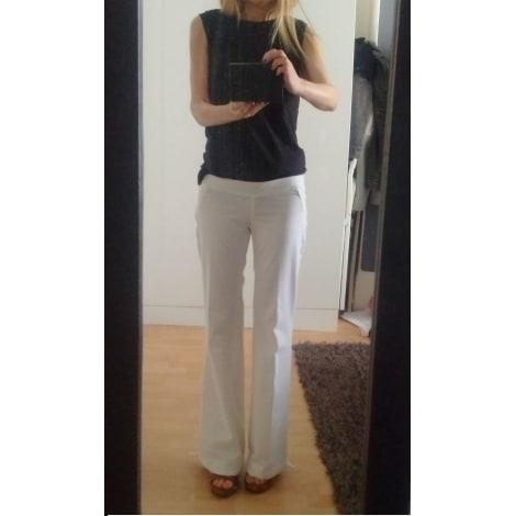 Pantalon droit MORGAN Blanc, blanc cassé, écru