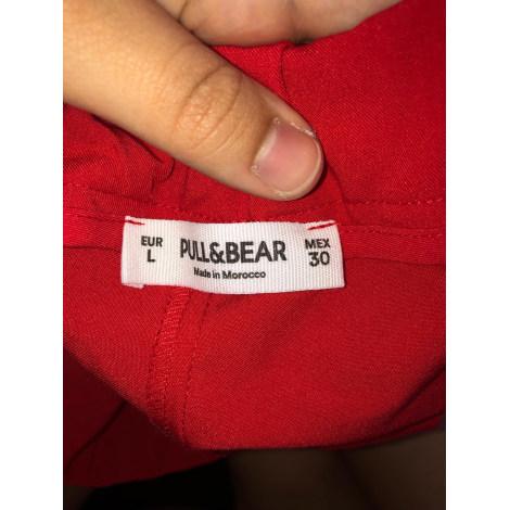 Pantalon droit PULL & BEAR Rouge, bordeaux