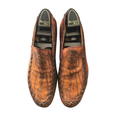Chaussures à lacets BERLUTI Doré, bronze, cuivre