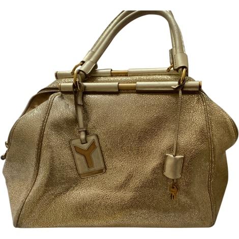 Leather Handbag YVES SAINT LAURENT Golden, bronze, copper